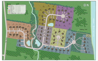 Lakefront Estates Subdivision Site Plan Custom Homes Ontario NY Dec 2016 All Phases