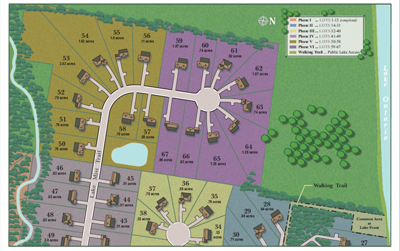 Lakefront Estates Subdivision Site Plan Custom Homes Ontario NY Dec 2016 Phases 5 6