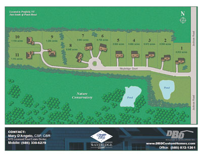Waybridge Court Subdivision Site Plan Custom Homes Penfield NY